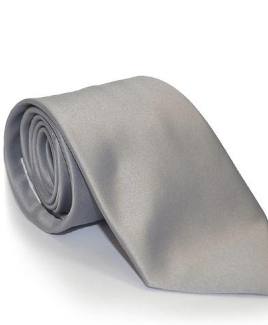cravatta grigio argento