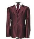 abito nuccio d'ottavio rosso bordeaux setaIMG_9707