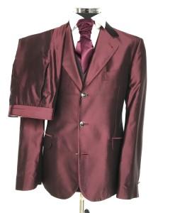 abito nuccio d'ottavio rosso bordeaux setaIMG_9713